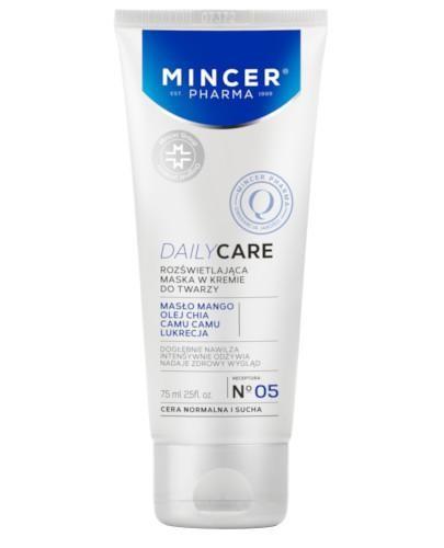 Mincer Pharma Daily Care N05 rozświetlająca maska w kremie do twarzy 75 ml