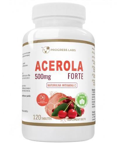 Progress Labs Forte 500 mg naturalna witamina C 120 tabletek