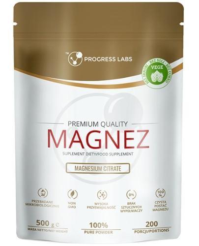 Progress Labs Magnez (cytrynian magnezu) proszek 500 g