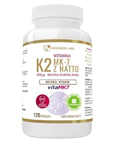 Progress Labs Witamina K2 MK-7 z Natto 200 µg 120 kapsułek