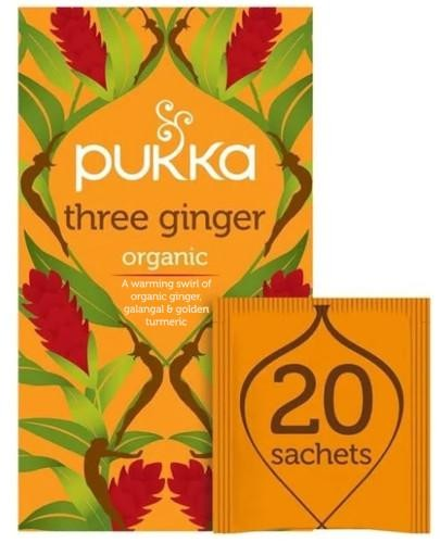 Organiczna herbata z imbirem i galangalem herbata 20 saszetek