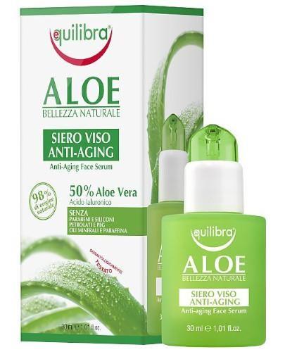 Equilibra aloesowe przeciwzmarszczkowe serum do twarzy 30 ml  [Maska Arganowa + Zestaw P...