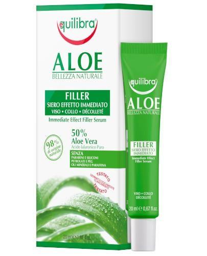 Equilibra aloesowe serum wypełniające z efektem natychmiastowym 20 ml  [Maska Arganow...