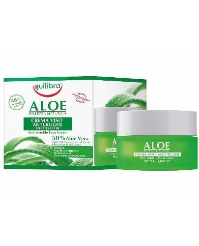 Equilibra aloesowy krem przeciwzmarszczkowy efekt wypełnienia 50 ml  [Maska Arganowa + Ze...