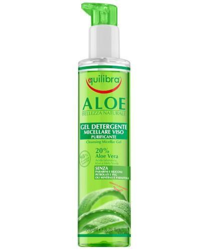 Equilibra aloesowy oczyszczający żel micelarny 200 ml  [Maska Arganowa + Zestaw Próbek]