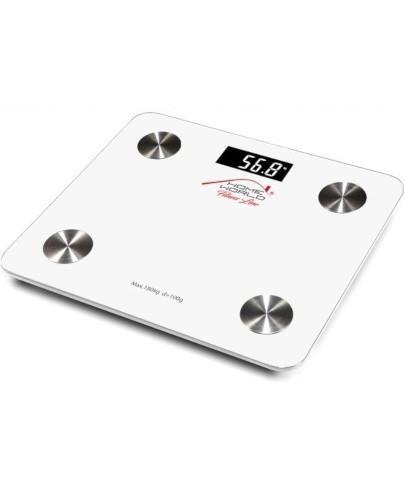 Tech-Med HW-FIT001 Bluetooth waga elektroniczna z analizatorem składu ciała biała 1 szt...