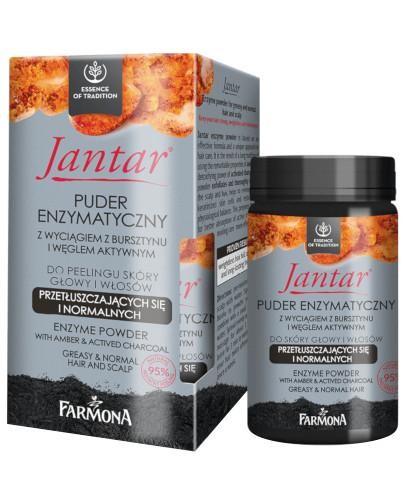 Farmona Jantar puder enzymatyczny z wyciagiem z bursztynu i węglem do skóry głowy i wł...