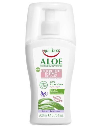 Equilibra aloesowy delikatny żel do higieny intymnej 200 ml  [Maska Arganowa + Zestaw P...