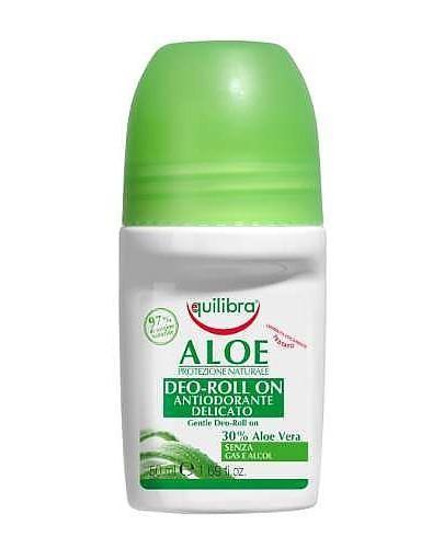 Equilibra aloesowy dezodorant w kulce 50 ml  [Maska Arganowa + Zestaw Próbek]