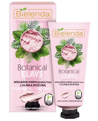 Bielenda Botanical Clays wegański krem z glinką różową na dzień i na noc 50 ml