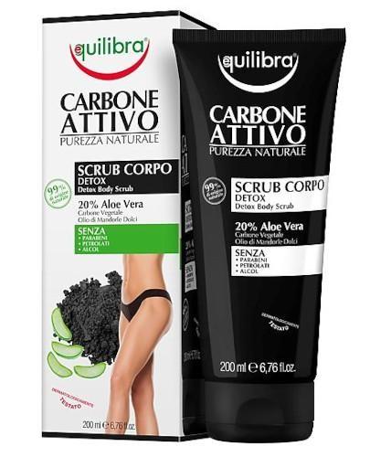 Equilibra oczyszczający peeling do ciała z aktywnym węglem 200 ml