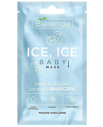 Bielenda Ice Ice Baby! mask kremowo-żelowa chłodząca maseczka - mroźne nawilżenie 8 g