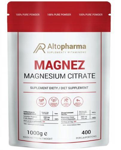 Altopharma Magnez (cytrynian magnezu) proszek 1000 g