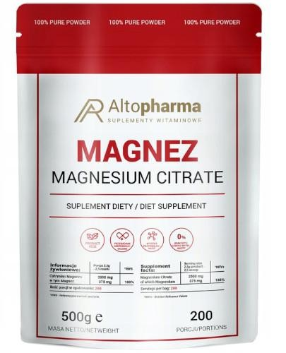 Altopharma Magnez (cytrynian magnezu) proszek 500 g