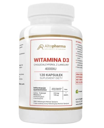 Altopharma Witamina D3 4000 IU + Prebiotyk 120 kapsułek
