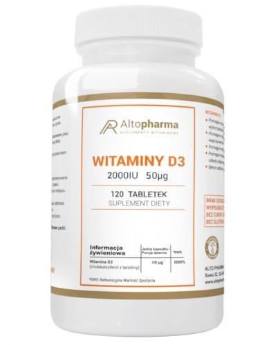 Altopharma Witaminy D3 2000 IU 50 µg 120 tabletek