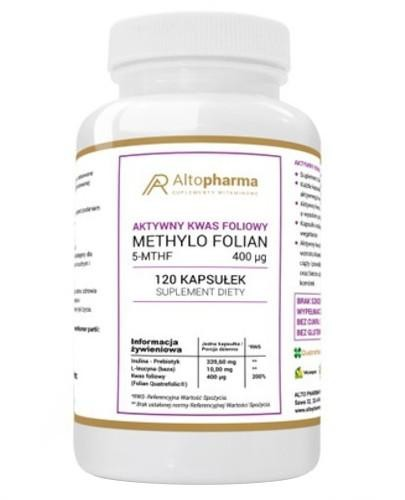 Altopharma Methylo Folian 5-MTHF 400 μg aktywny kwas foliowy 120 kapsułek
