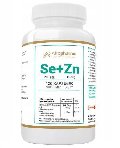 Altopharma Selen Organiczny 200 µg + Cynk 15 mg + Prebiotyk 120 kapsułek
