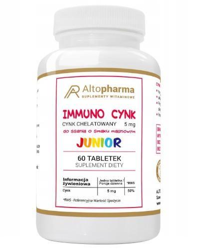 Altopharma Immuno Cynk Junior 5 mg 60 tabletek do ssania