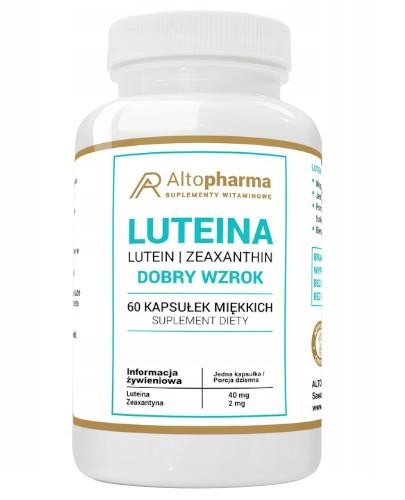 Altopharma Luteina 40 mg 60 kapsułek miękkich