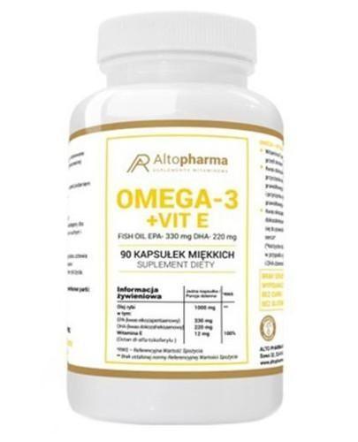 Altopharma Omega 3 1000 mg + Witamina E 90 kapsułek miękkich