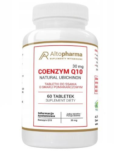 Altopharma Coenzym Q10 30 mg (koenzym Q10) 60 tabletek do ssania