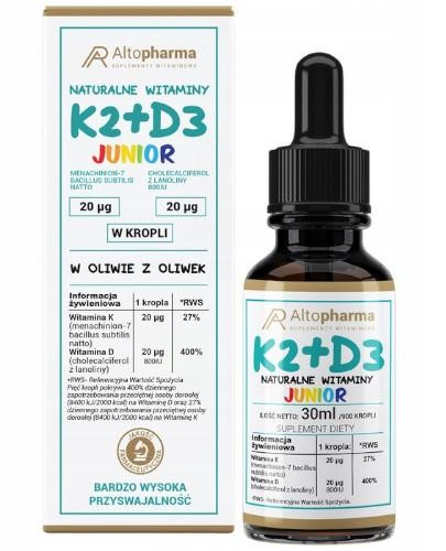 Altopharma Witamina K2 MK-7 + D3 Junior w kroplach 30 ml