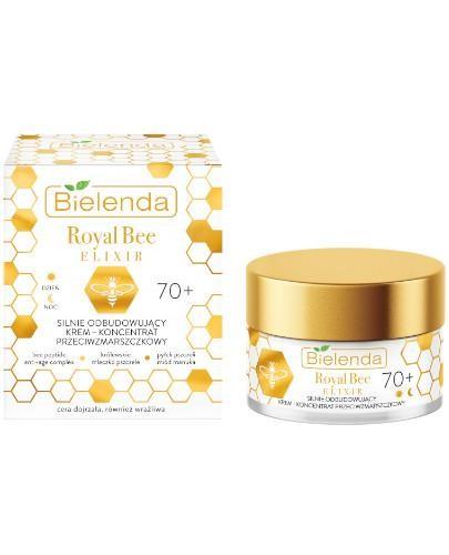 Bielenda Royal Bee Elixir silnie odbudowujący krem-koncentrat przeciwzmarszczkowy 70+ 50 ...