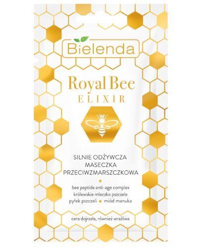 Bielenda Royal Bee Elixir silnie odżywcza maseczka przeciwzmarszczkowa 8 g