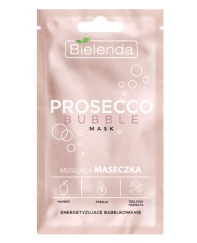 Bielenda Prosecco Bubble mask musująca maseczka energetyzujące bąbelkowanie 8 g