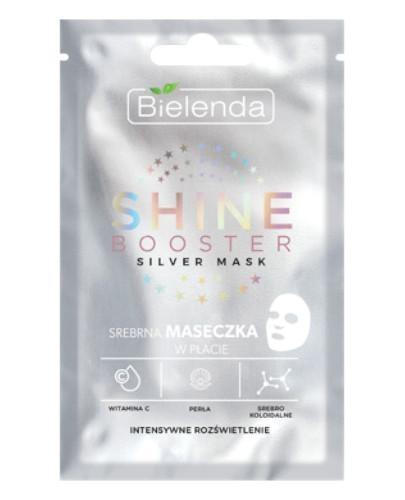 Bielenda Shine Booster Silver mask srebrna maseczka intensywne rozświetlenie 1 sztuka