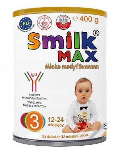 Smilk Max 3 mleko modyfikowane dla dzieci 12-24 miesięcy 400 g