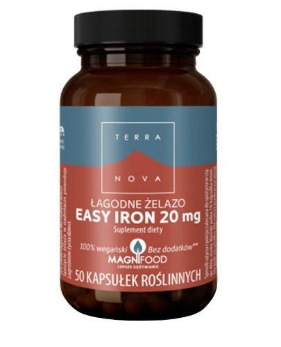 Terranova Łagodne Żelazo Easy Iron 20 mg 50 kapsułek roślinnych