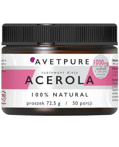 Avetpure Acerola proszek 72,5 g