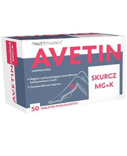 Avetin Skurcz Mg+K 50 tabletek