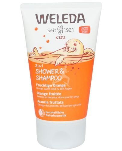 Weleda Kids 2w1 szampon i płyn do mycia ciała Happy Orange 150 ml