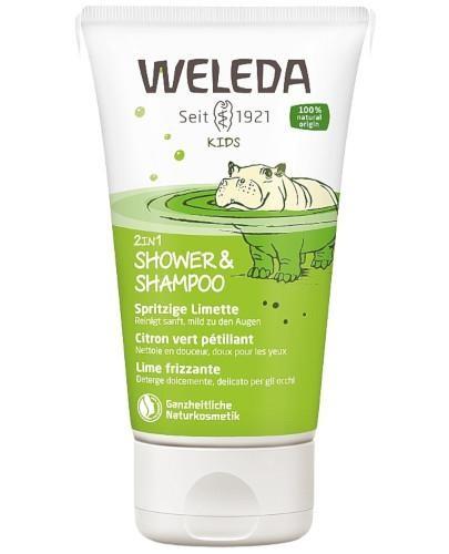 Weleda Kids 2w1 szampon i płyn do mycia ciała Lively Lime 150 ml