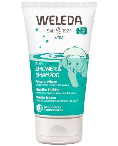 Weleda Kids 2w1 szampon i płyn do mycia ciała Mighty Mint 150 ml