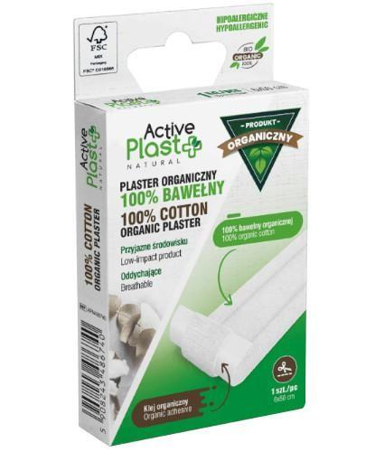 Active Plast BIO plaster opatrunkowy do cięcia ze 100% bawełny organicznej 6 x 50 cm 1 s...