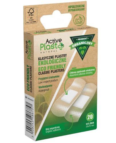 ActivePlast ECO Friendly klasyczne plastry ekologiczne 20 x 70 mm 20 sztuk