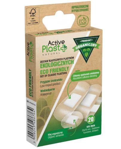 ActivePlast ECO Friendly zestaw klasycznych plastrów ekologicznych 20 sztuk