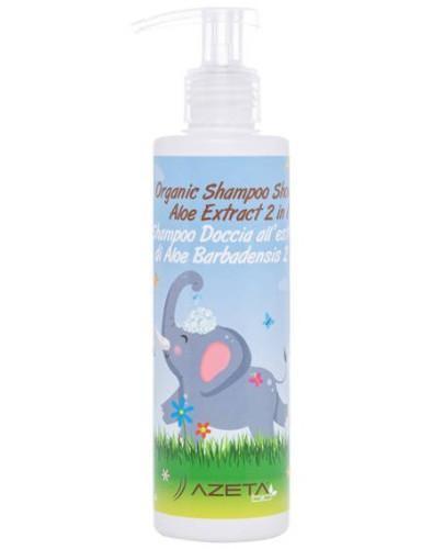 Azeta Bio organiczny szampon i płyn do mycia ciała 2w1 dla dzieci z ekstraktem z aloes...