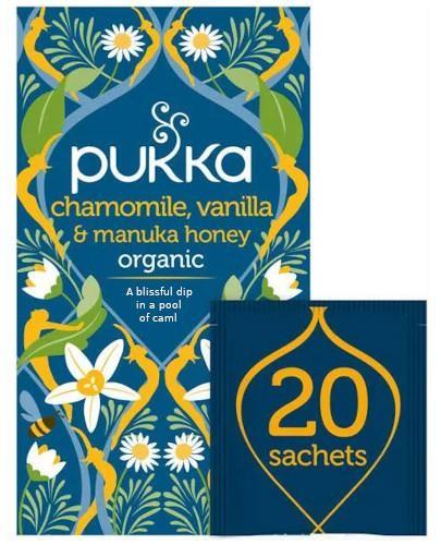 Pukka Chamomile, Vanilla & Manuka Honey herbata 20 saszetek