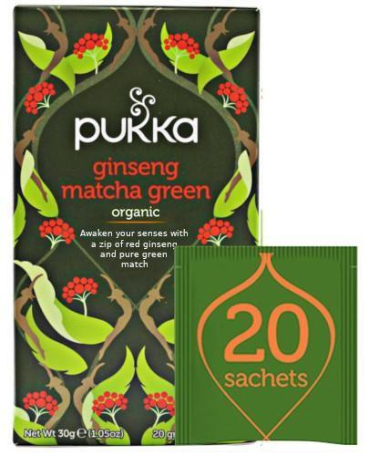 Pukka Ginseng Matcha Green herbata 20 saszetek