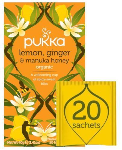 Pukka Lemon, Ginger & Manuka Honey herbata 20 saszetek