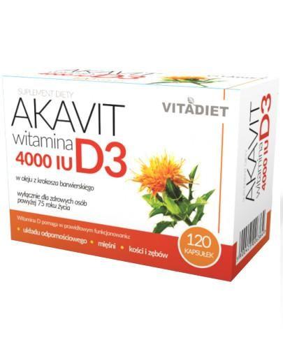 VitaDiet Akavit Witamina D3 4000 IU 120 kapsułek