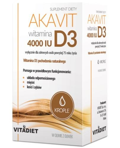 VitaDiet Akavit Witamina D3 4000 IU krople 29,4 ml