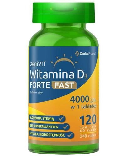 XeniVIT Witamina D Forte Fast 120 tabletek do ssania