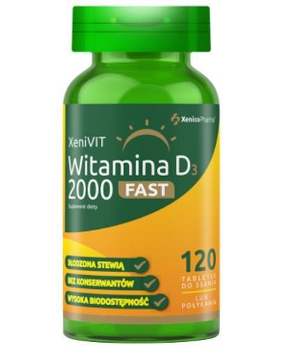 XeniVIT Witamina D3 2000 Fast 120 tabletek do ssania