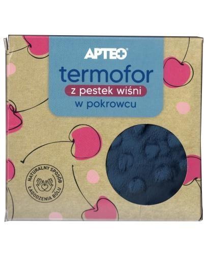 Apteo Termofor z pestek wiśni w niebieskim pokrowcu 1 sztuka